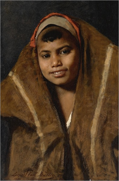 an innocent smile_Leopold Carl Müller - 1885