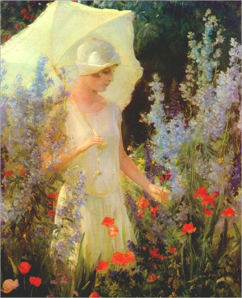 Blue Delphiniums-Charles-Courtney-Curran