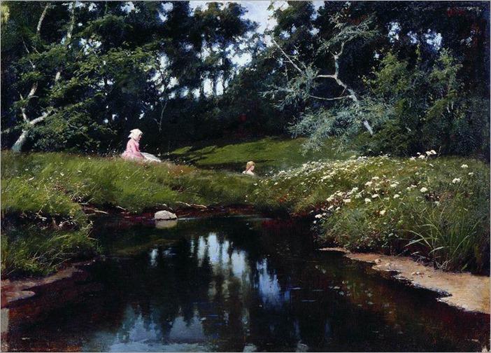 by the pond_Ivan Endogurov - 1887