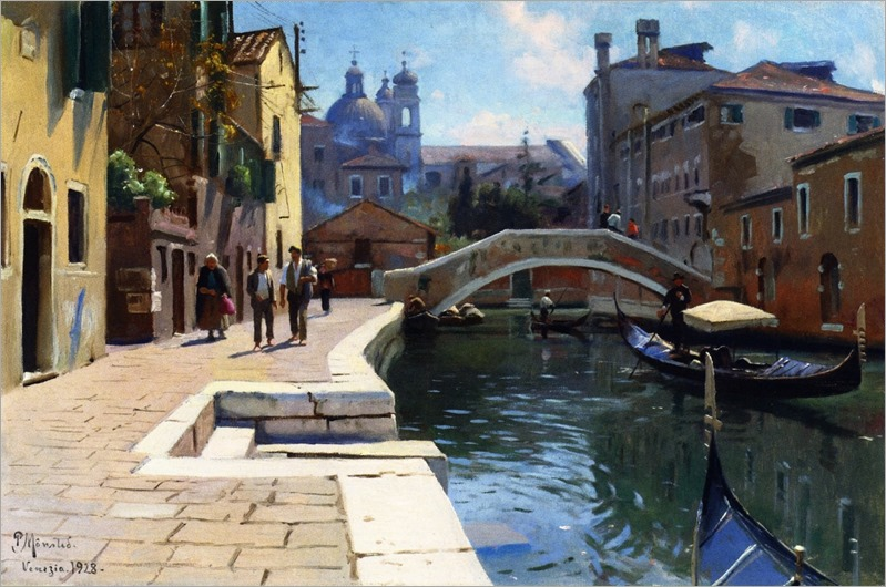 Canal in Venice - 1928- Peder Mork Monsted