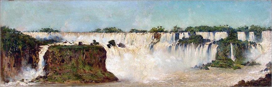Cascada-del-Iguazú--Augusto-Ballerini, 1892