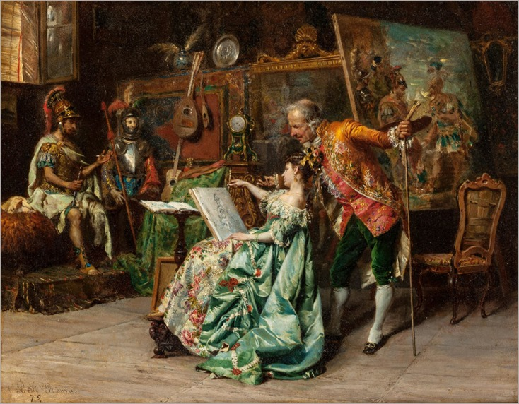 CESARE AUGUSTE DETTI (1847-1914). Art Lesson
