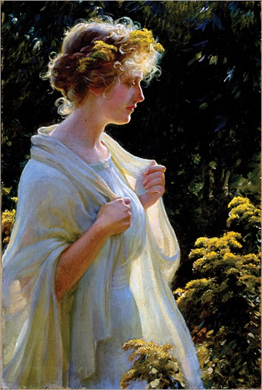 Charles Courtney_Curran_TheGoldenProfile