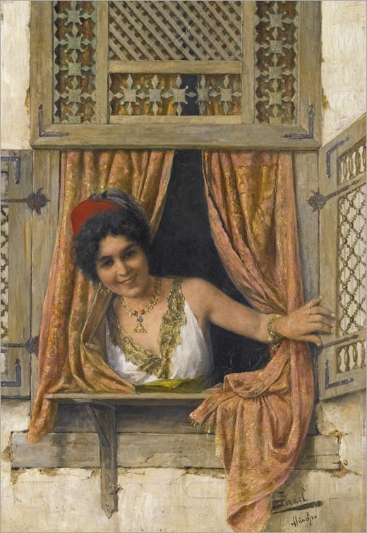 DANIEL ISRAEL (austrian, 1859-1901)_woman at a window