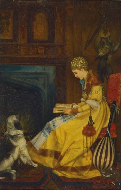 Domenico Mastaglio, born 1851 in Munich_reading woman