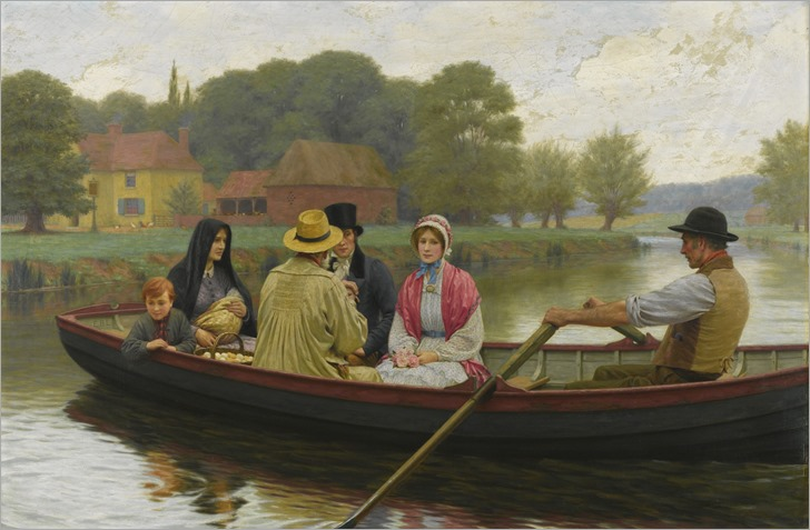 Edmund Blair Leighton (1852-1922) - the ferry