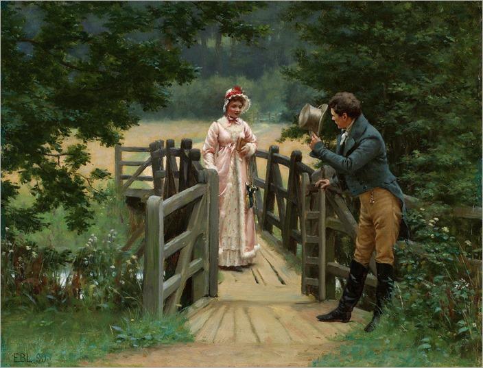 Edmund Blair Leighton - The Gallant Suitor 1890