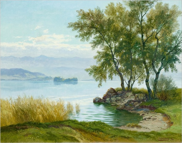 Edwin Jacob Bachmann (1873-1957) Land near Bächau