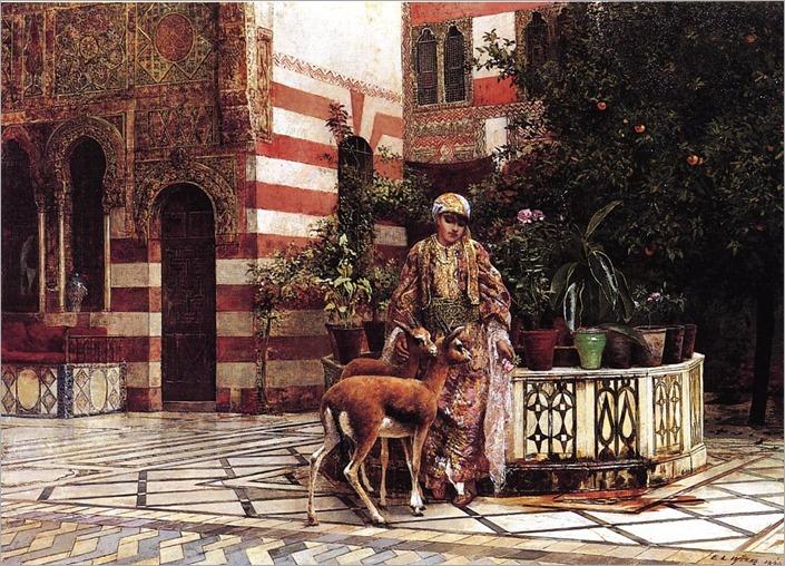 Edwin-Lord-Weeks-Girl-In-A-Moorish-Courtyard