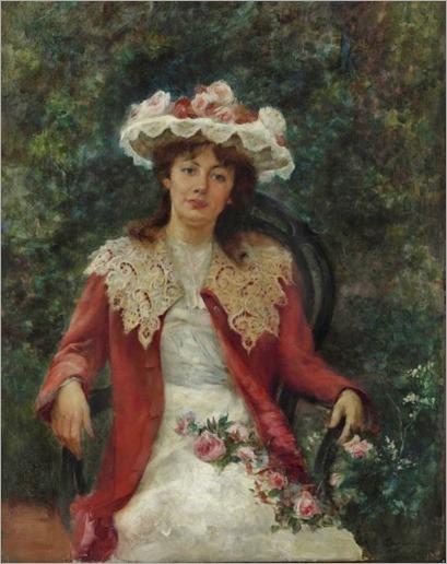 Ernesto de la Cárcova (Argentina, Buenos Aires, 1867 – Argentina, Buenos Aires, 1927)-en el jardin