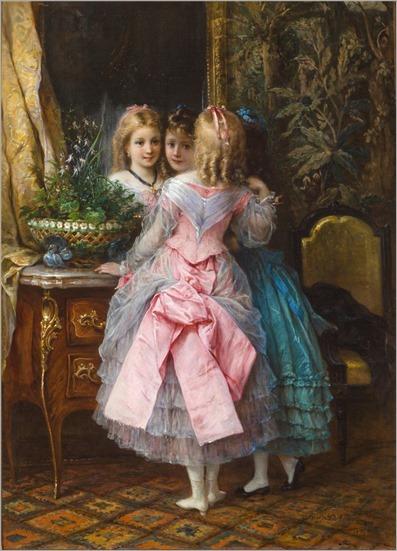 Eugen Joseph Lejeune (1818-1897) In their fanciest dresses. 1876