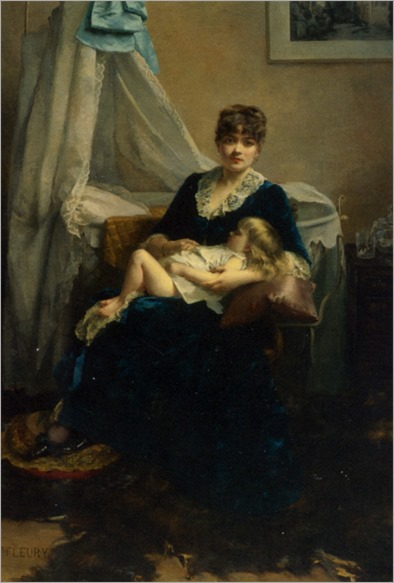 Fleury_Fanny_A_Mother_And_Her_Sleeping_Child