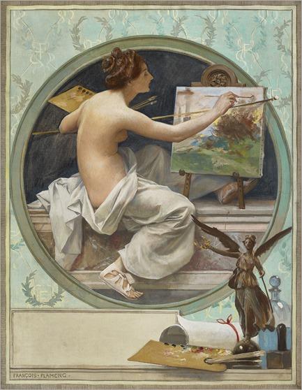 Francois-Flameng_allegorie-des-arts