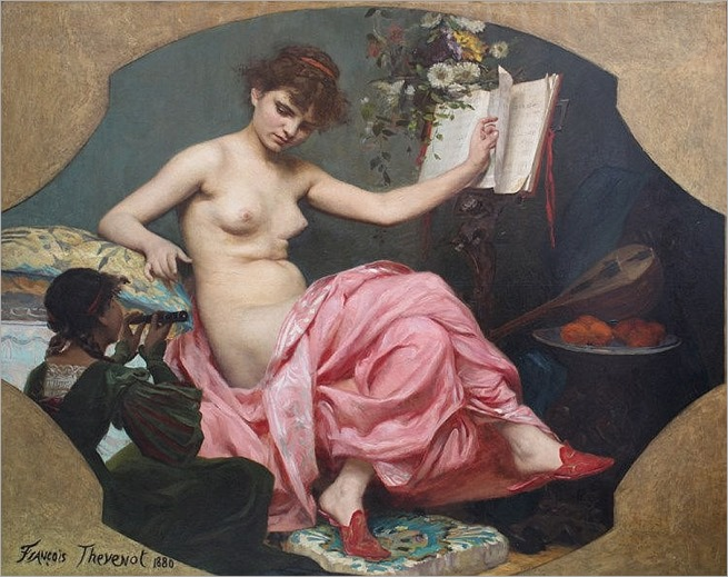 Francois Thevenot (1856-1943), Allegory of the music