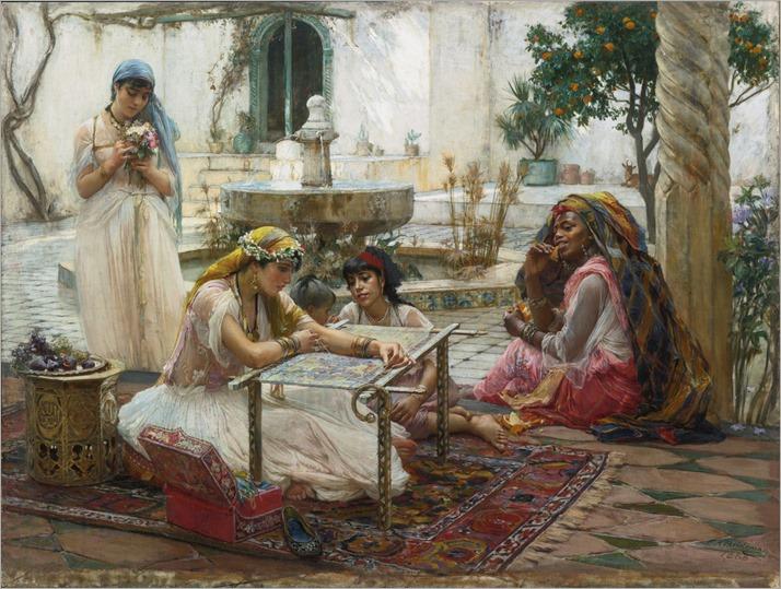 Frederick Arthur Bridgman - Dans une Ville de Campagne Alger -1888