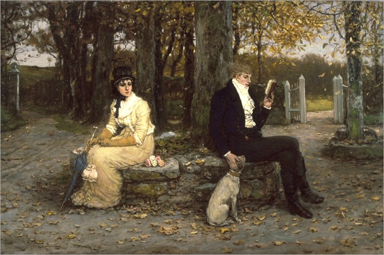 George Henry Boughton (English, 1833-1905). 'The Waning Honeymoon,' 1878. oil on canvas. Walters Art Museum (37.129): Acquired by William T. Walters, ca. 1878.