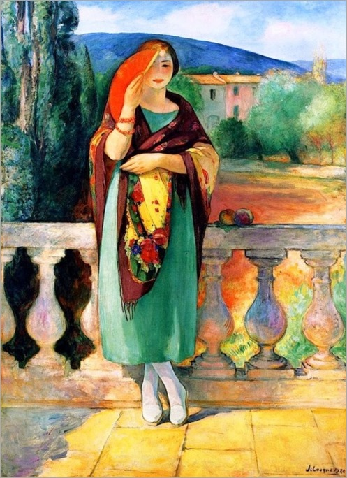 Girl with Fan - Henri Lebasque (french painter)