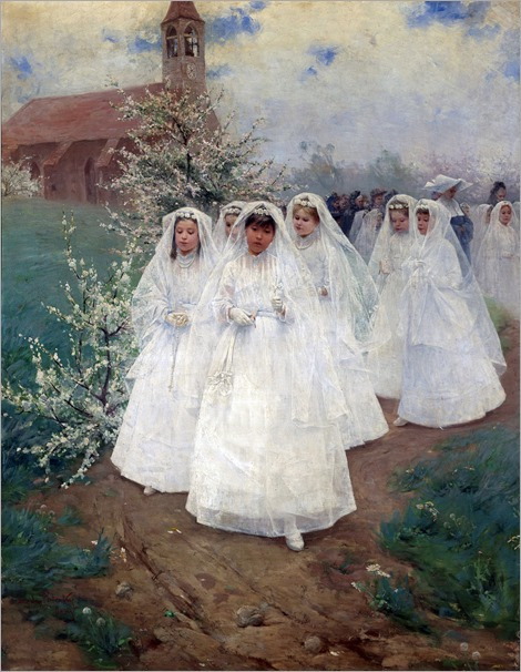 Group of Children after First Communion - Laszlo Pataky von Sospatak