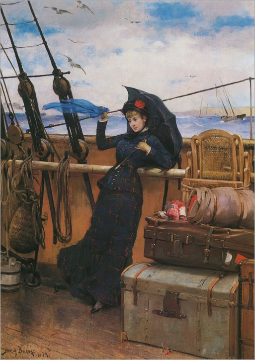 Henry-Bacon-Art-The-Departure-1879