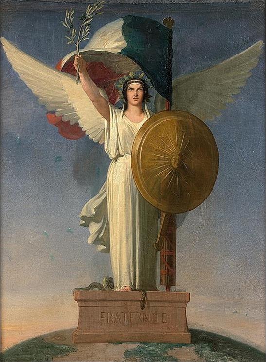 Hippolyte FLANDRIN (Lyon 1809-Rome 1864) Allégorie de La République