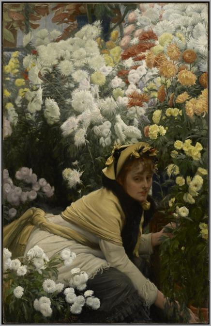 James Tissot (French, 1836-1902)_crysanthemus, 1874