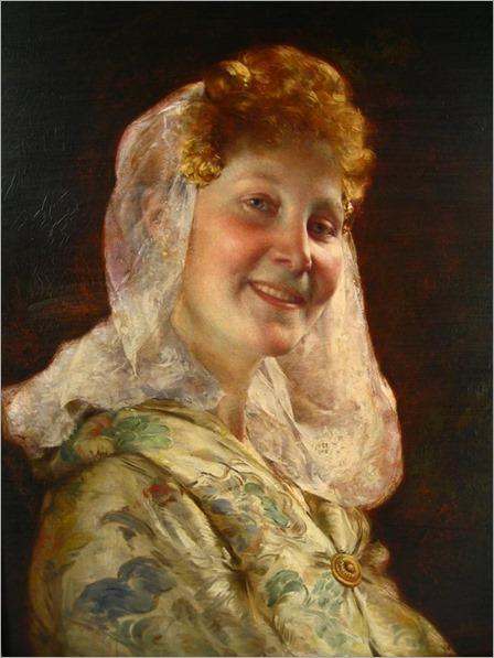 Jean Guillaume Rosier, Belgian, 1858-1931, In Good Humor (Head of Zeeland Girl)