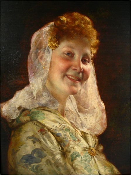 Jean Guillaume Rosier, Belgian, 1858-1931, In Good Humor (Head of Zeeland Girl)