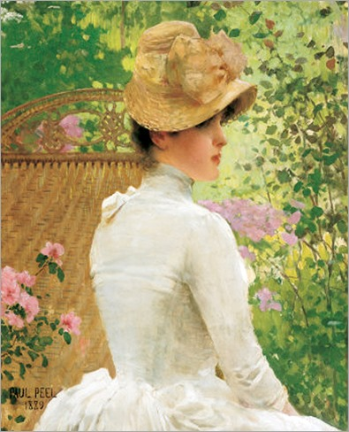 Lady in the Garden - paul Peel-1889