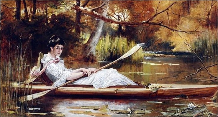 LASLETT JOHN POTT (1837-1898) British A Moment of Solitude