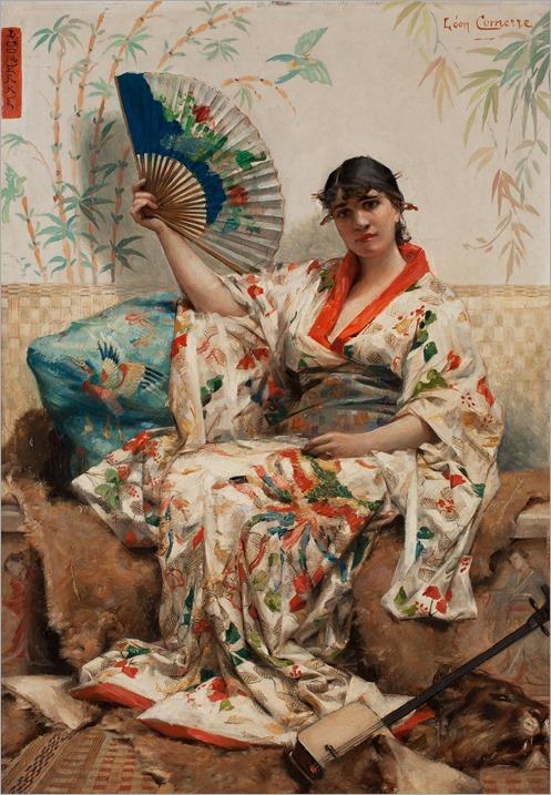 Leon F COMERRE-woman-a-la-japonaise.