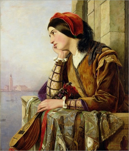 L'innamorata (1857). Henry Nelson O'Neil (British, 1817-1880)