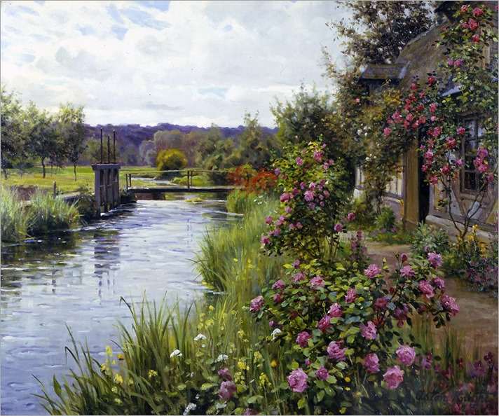 Louis Aston Knight - Flowers in Bloom