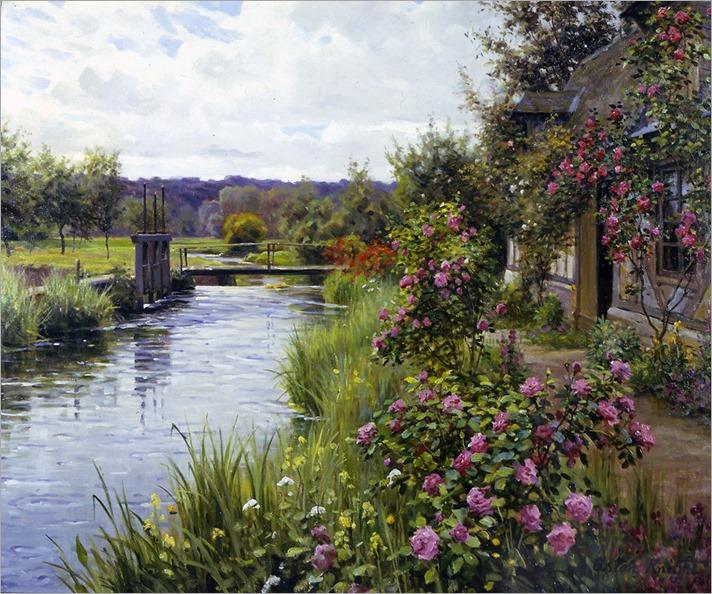 Louis Aston Knight - Flowers in Bloom