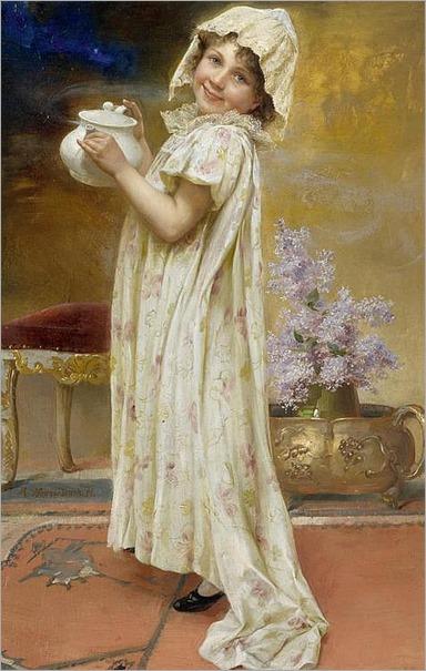 Max Nonnenbruch_Girl with a teapot. 1896