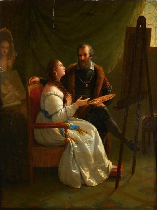 NATALE SCHIAVONI, (ITALIAN 1777-1858), ARTIST AND MODEL