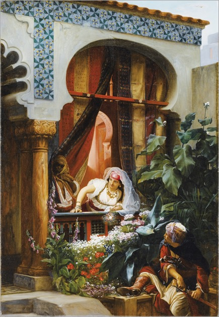 Pierre-Marie Beyle French, 1838-1902 -le balcon