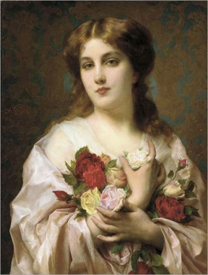 Portrait Of A Lady, by  Etienne Adolphe Piot  (french, 1850 - 1910)