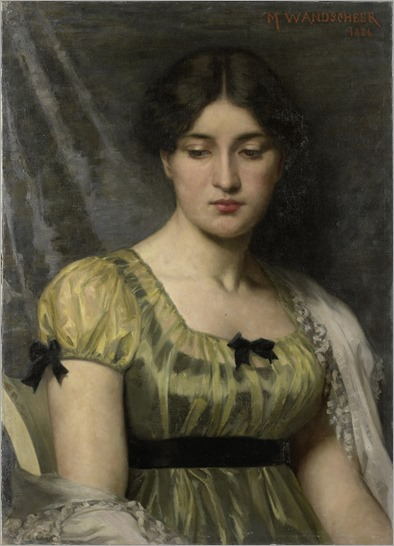 Portrait of a Woman - 1886 by Marie Wandscheer (dutch painter)