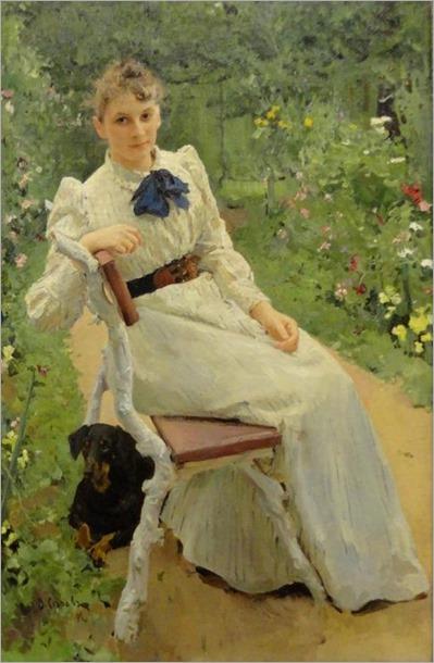 portrait of Olga_Valentin Serov - 1892