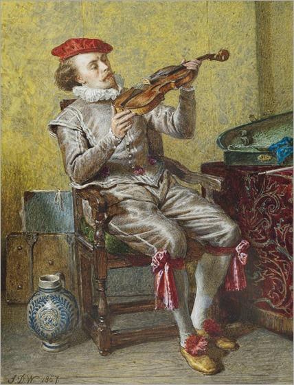 Portrait Of The Artist As A Violinist_John Dawson Watson