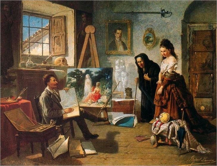 Rafael Romero Barros (Moguer 1833 - Córdoba 1895)_el pintor