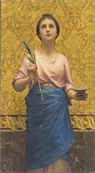 Roberto Bompiani- (Italian, 1821-1908) Saint Lucy