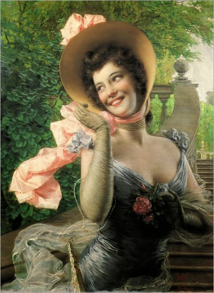 Smiling Woman - Gaetano Bellei (italian painter)