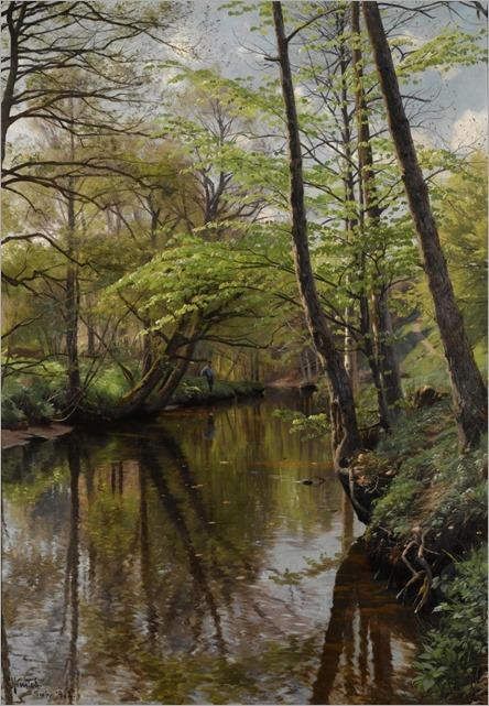 Spring in Sæby - Peder Mork Monsted (danish painter)