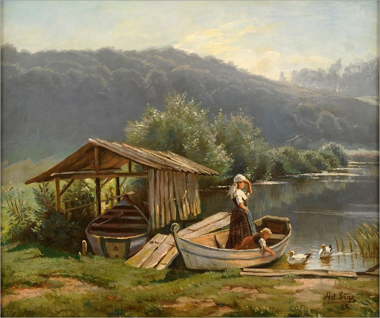 Summer on the Lake-Adolf Lins-1885