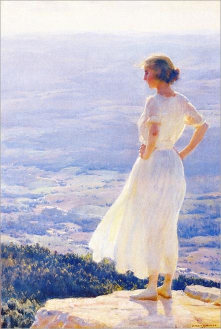 sunlit valley_1920-Charles Courtney Curran