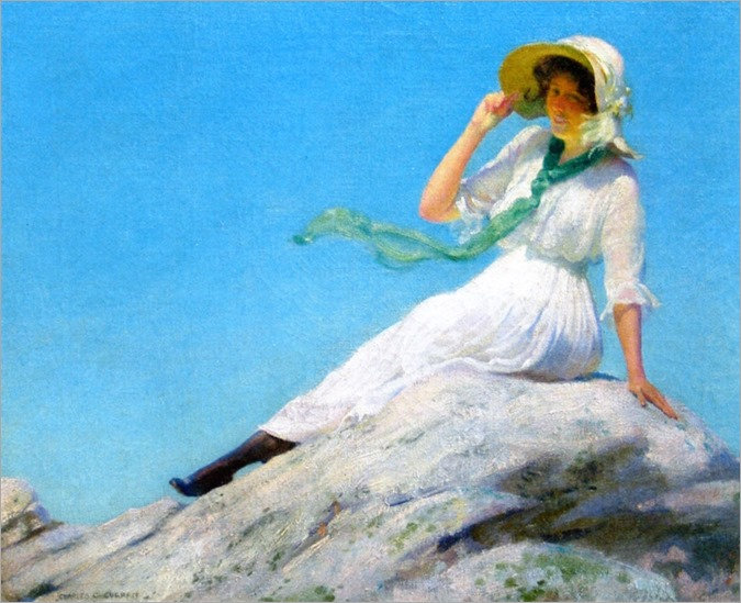 sunny morning_1916-Charles Courtney Curran