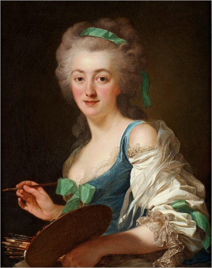 The artist Anne Vallayer-Coster (1783). Alexander Roslin (Swedish, 1718-1793)