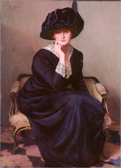 the black hat by Lilla Cabot Perry - 1914