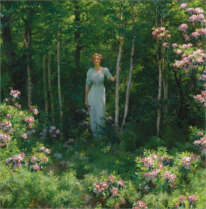 The Edge of the Woods - Charles Courtney Curran-1912